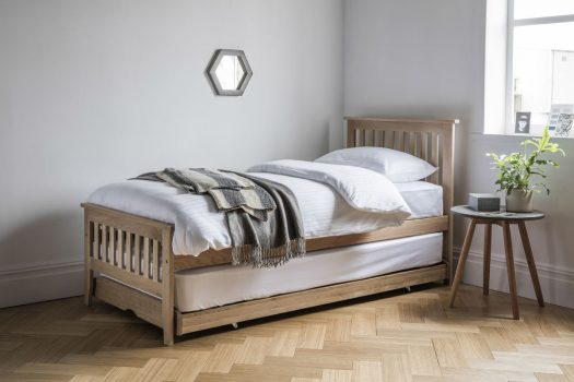 Warwick Guest Bed Oak