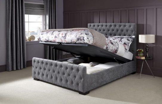 Serene Lily Steel Ottoman Open Bedstead